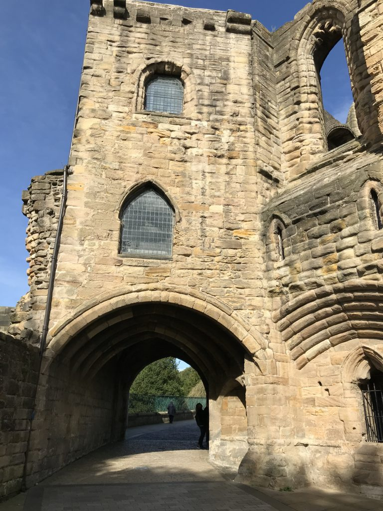 The Pends at St Catherine's Wynd. A stone archway which allowed access to the Abbey campus from monastery way.
